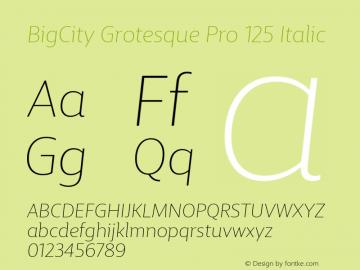 BigCity Grotesque Pro 125