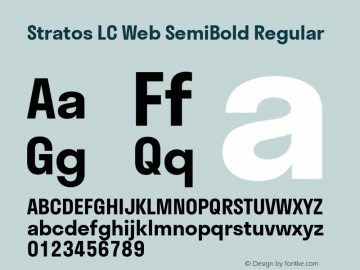 Stratos LC Web SemiBold