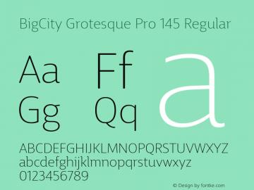 BigCity Grotesque Pro 145