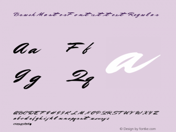 BrushMasterFont12 ttext