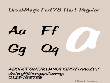 BrushMagicText78 ttext