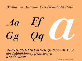 Walbaum Antiqua Pro