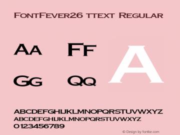FontFever26 ttext