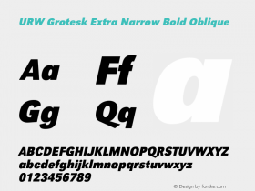URW Grotesk Extra Narrow