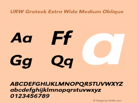 URW Grotesk Extra Wide
