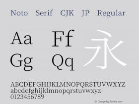 Noto Serif CJK JP