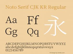 Noto Serif CJK KR