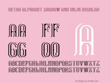 Retro Alphabet Shadow And Inlin
