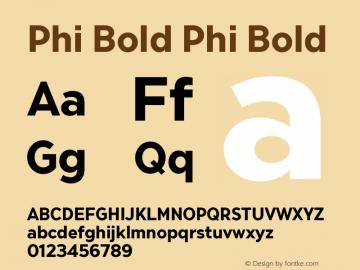 Phi Bold