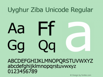 Uyghur Ziba Unicode
