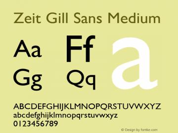 Zeit Gill Sans