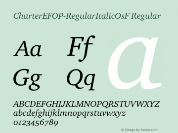 CharterEFOP-RegularItalicOsF