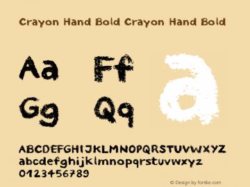 Crayon Hand Bold