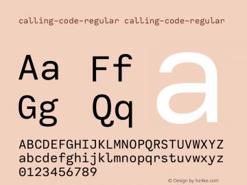calling-code-regular