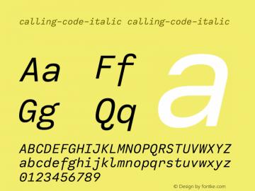 calling-code-italic