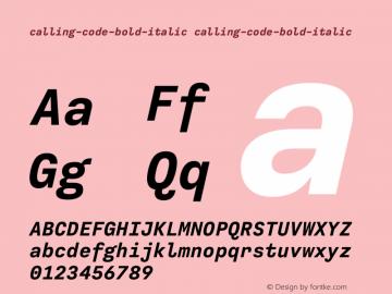 calling-code-bold-italic