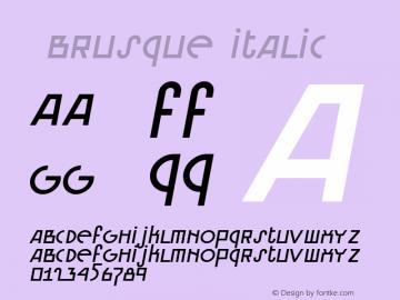 ☞Brusque Italic