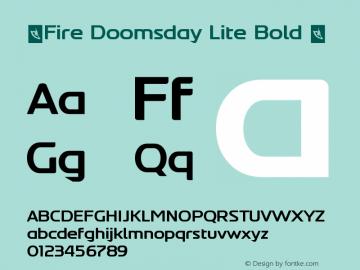 ☞Fire Doomsday Lite Bold