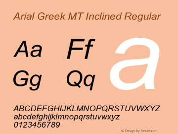 Arial Greek MT Inclined