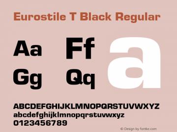 Eurostile T Black
