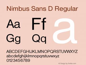 Nimbus Sans D