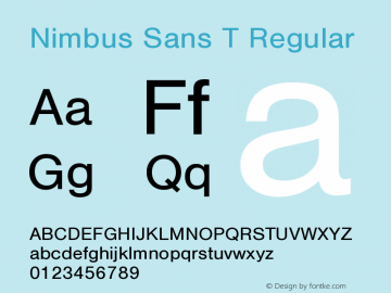Nimbus Sans T