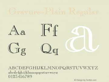 Gravure-Plain