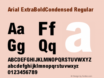 Arial ExtraBoldCondensed