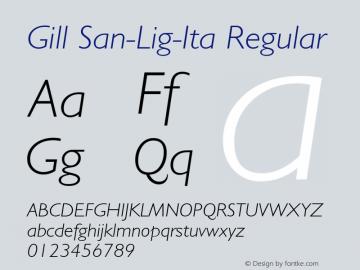 Gill San-Lig-Ita
