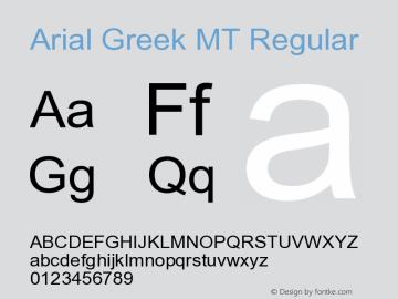 Arial Greek MT