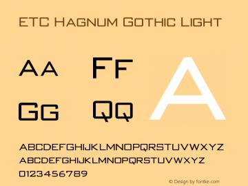 ETC Hagnum Gothic