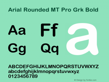 Arial Rounded MT Pro Grk