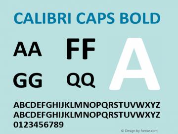 Calibri Caps