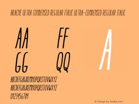 Aracne Ultra Condensed Regular Italic