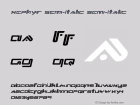 Xephyr Semi-Italic
