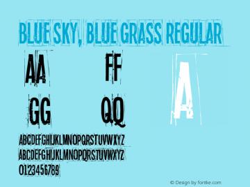 Blue sky, blue grass