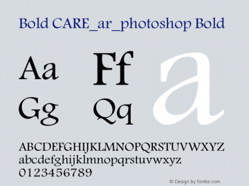 Bold CARE_ar_photoshop