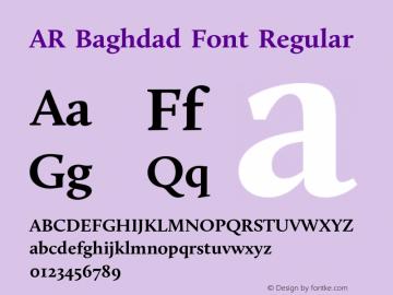 AR Baghdad Font