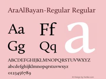 AraAlBayan-Regular