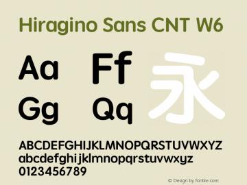 Hiragino Sans CNT