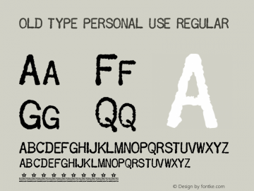 OLD TYPE PERSONAL USE