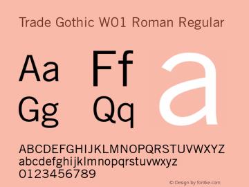 Trade Gothic W01 Roman
