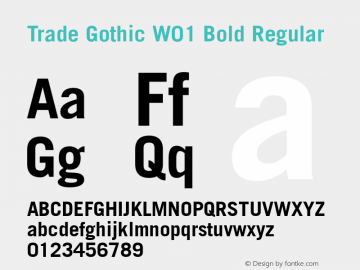 Trade Gothic W01 Bold