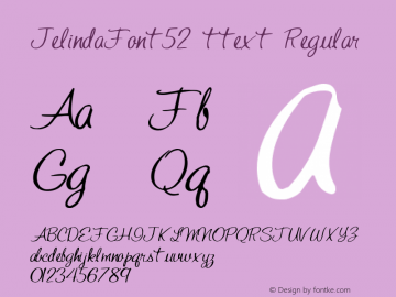JelindaFont52 ttext