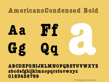 AmericanoCondensed