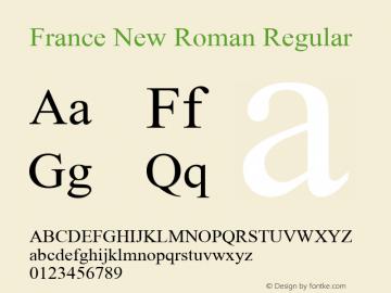 France New Roman