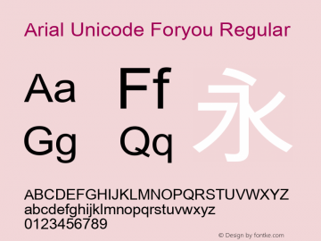 Arial Unicode Foryou