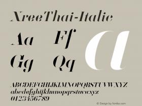 XreeThai-Italic