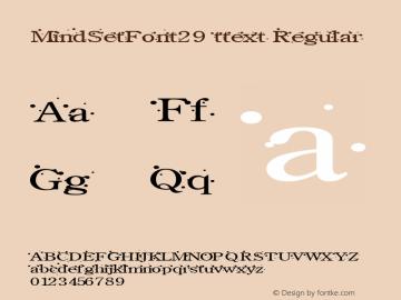 MindSetFont29 ttext
