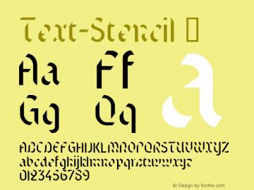 Text-Stencil